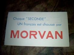 Publicite Buvard Chaussures Morvan - Löschblätter, Heftumschläge