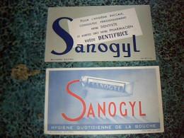 Publicite Buvard  Dentifrice Sanogyl - G