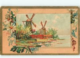 CHROMO - MOKA LEROUX - ORCHIES - CHICOREE Ou CAFE - Paysage Moulin - Fleur - Chromos