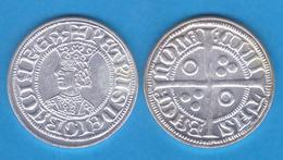 Pedro III El Grande 1.276-1.285 GROAT Plata Barcelona Réplica    T-DL-11.946 - Monnaies Antiques