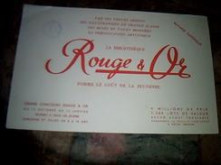 Publicite Buvard   Bibliotheque Rouge Et Or - Blotters