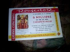 Publicite Buvard   Bibliotheque Rouge Et Or Concour Tombola - Buvards, Protège-cahiers Illustrés