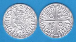 Martin I El Humano Rey De Aragon CROAT Barcelona 1.398 Plata Réplica   DL-11.949 - Otras Piezas Antiguas