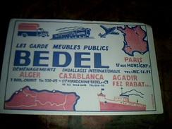 Publicite Buvard   Societe Marocaine De Demenagement Bedel - Buvards, Protège-cahiers Illustrés