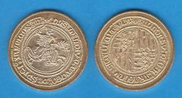 ALFONSO V El Magnanimo Rey De Aragon 1.416-1.458 DUCADO Oro Napoles  Réplica   DL-11.950 - Otras Piezas Antiguas