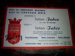 Publicite Buvard Lotion Fabre Paris Rue De Rivoli - G