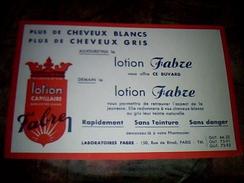 Publicite Buvard Lotion Fabre Paris Rue De Rivoli - Buvards, Protège-cahiers Illustrés