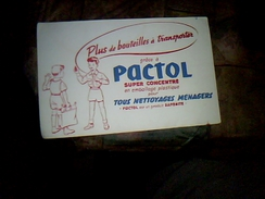 Publicite Buvard Produit Saponite Pqactol - G