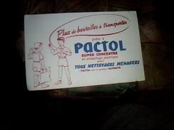 Publicite Buvard Produit Saponite Pqactol - Blotters