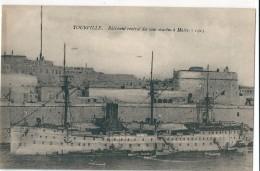 TOURVILLE    -       Batiment  Central  Des  Sous - Marins  à  Malte   (  1915  )        ^^ - Non Classificati