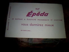 Publicite Buvard   Matela Epeda - Buvards, Protège-cahiers Illustrés
