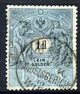 AUSTRIA 1888 1 Gulden Revenue Stamp  Cancelled Handelsgericht In Wien. - Revenue Stamps