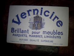 Publicite Buvard Cire Pour Meubles Vernicire - Buvards, Protège-cahiers Illustrés
