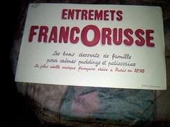 Publicite Buvard  Francorusse Illustré Par Efgé - Buvards, Protège-cahiers Illustrés