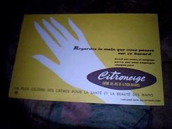 Publicite Buvard  Créme De Soin Pour Les Mains Citroneige - Blotters