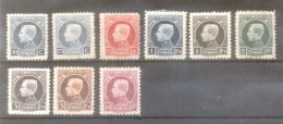 BELGIUM CROIX ROUGE YVERT NRS. 211-219 COMPLETE SET MH SERIE COMPLETA ANS 1921-1927 ALBERT THE FIRST - 1922-1927 Houyoux