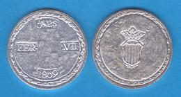 FERNANDO VII  5 Pesetas 1.809 Plata Reus (Tarragona)  Replica   DL-11.957 - [ 1] …-1931 : Royaume