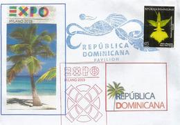 REPUBLIQUE DOMINICAINE (Dominicana) Lettre Du Pavillon Dominicana Avec Timbre Rep.Dominicaine (RARE) - 2015 – Milan (Italy)