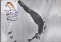 Jeux Olympiques Sydney - PLONGEON   Carte Maximum - Portugal 2000