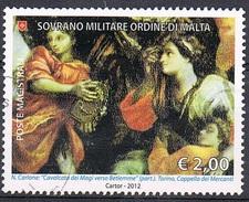 2012 - S.M.O.M. - MAESTRI DELLA PITTURA - USATO. - Sovrano Militare Ordine Di Malta