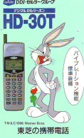 Télécarte Japon * CARTOON * BUGS BUNNY (153) RABBIT * LAPIN * KANINCHEN * KONIJN*  PHONECARD JAPAN * TELEFONKARTE - BD