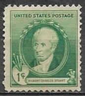 1940 American Artists, 1 Cent Stuart, Used - United States