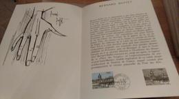 68/DOCUMENT PHILATELIQUE PREMIER JOUR  BERNARD BUFFET - Documents De La Poste
