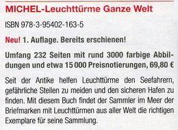Motiv Leuchttürme 1.Auflage MICHEL 2017 Neu 70€ Topic Stamps Catalogue Lighthous Of The World ISBN978-3-95402-163-5 - Kataloge & CDs
