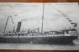 """CPA Le Transatlantique """"ABDA """" Au Havre  Paquebot Poste Français Cie Nle Paquet  Courrier Du Maroc - Passagiersschepen"""