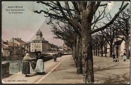RAON-L'ETAPE Vosges 3 CPA : -quai Adrien-Sadoul Le Grand Pont -fontaine De Diane -environs Monument Aux Mobiles De Lajus - Raon L'Etape