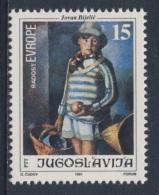 "Jugoslavija Yugoslavia 1991 Mi 2507 YT 2370 Sc 2115 ** ""Little Dubravka"" Painting By Jovan Bijelic (1884-1964) / Gemälde - Kunst"