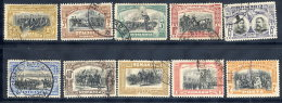 ROMANIA 1906 40th Anniversary Of Regency Set Of 10, Used.  Michel 187-96 - 1881-1918: Charles I