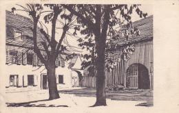 """Carte Gravure - Foyer Protestant - Guebwiller - Circulé 1930, Flamme Parlant  """"Visitez La FOIRE De PARIS"""" - Circulé 1930 - Guebwiller"""