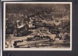 Ansichtskarte Dresden Adolf Hitler Platz Luftaufnahme 1942 - Briefe U. Dokumente