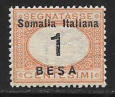 Somalia, Scott # J23 Mint Hinged Italy Postage Due, Overprinted,1923 - Somalia