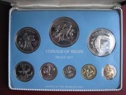 Belize 1975 Proof Coin Set 1 Cent - 10$ Dollars Sealed By Franklin Mint Case COA Papers - Belize