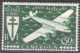 Cameroun 1942 Michel 243 Neuf ** Cote (2001) 2.20 Euro France Libre Avion - Nuevos