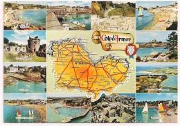 22 - Côte D´Armor - Multivues Avec Carte Contour Du Département - Ed. Pierre Artaud N° 2 - 1973 - Zonder Classificatie