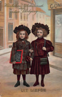 CPA JEUNE FILLES FILLES YOUNG GIRLS GIRL UIT LIEFDE - Souvenir De...