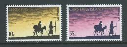 Christmas Island 1975 Xmas Set Of 2 MNH - Christmas Island