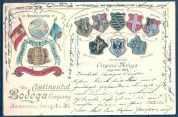 1903 , TARJETA POSTAL PUBLICITARIA , HANNOVER , THE CONTINENTAL BODEGA COMPANY , CIRCULADA , TEMA VINO , WINE , VINS - Pubblicitari