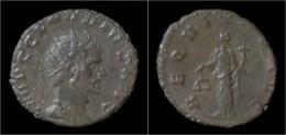 Claudius II Gothicus Billon Antoninianus Aequitas Standing Left - 5. The Military Crisis (235 AD To 284 AD)