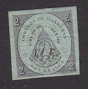 Honduras, Scott #1, Mint Hinged, Coat Of Arms, Issued 1865 - Honduras
