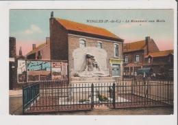 CPA Couleur - WINGLES - Le Monument Aux Morts - Restaurant - Sonstige Gemeinden