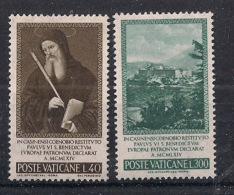VATICANO     1965     SAN BENEDETTO    SASS. 414-415       MNH   XF - Vaticano