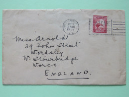 New Zealand 1937 Cover Christchurch To England - Kiwi Bird - Covers & Documents