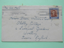New Zealand 1952 Cover Dannevirke To England - King - Covers & Documents