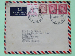 New Zealand 1959 Cover Auckland To England - Queen Overprint Nelson Diocese Seal - Covers & Documents