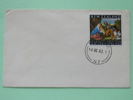 New Zealand 1963 FDC Cover - Christmas - Titian Painting - New Zealand