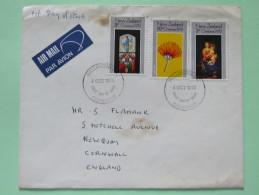 New Zealand 1972 FDC Cover Wellington To England - Christmas - New Zealand